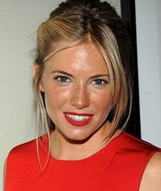 Sienna-Miller - Red Lipstick + Red Dress