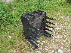Купить или заказать Вертикальный мангал из чёрной стали 5 мм в интернет магазине на Ярмарке Мастеров. С доставкой по России и СНГ. Материалы: сталь. Размер: Длина: 315 мм<br /> Ширина: 310 мм<br />… Wood Grill, Diy Grill, Barbecue Grill, Outdoor Oven, Outdoor Cooking, Camping Fire Pit, Bbq Pit Smoker, Custom Bbq Pits, Bbq Equipment