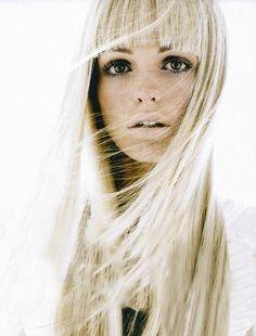 blonde & bangs