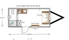 shepherd's hut floor plan - Google Search