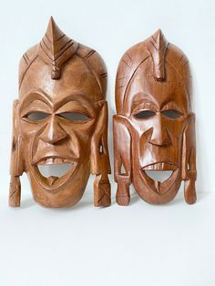 African Masks, Wooden Hand Craved Hangings, African Masks, Wall Decor