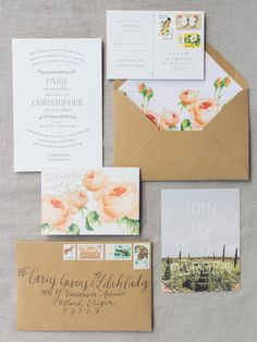 garden inspired invitations