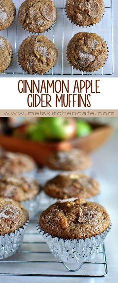 These Cinnamon Apple Cider Muffins sum up all fall flavors in one bite!