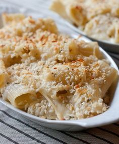 Creamy Baked Four-Cheese Pasta #food #yummy #delicious