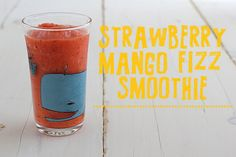 This Strawberry Mango Fizz Smoothie is diet-friendly, easy, and delicious. Not many smoothies are fizzy, but this one is!