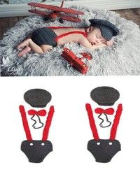 I think you'll like 1set Newborn Infant Baby Boys Girls Knit Crochet Photography Photo Props Hat Overalls Pilot Fit 0-12Months. Add it to your wishlist!  http://www.wish.com/c/53f1f71d1f50634c67bdbe67