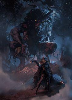 Dark Fantasy Art - Trend in 2020 Dark Fantasy Art, Fantasy Artwork, Fantasy Witch, Digital Art Fantasy, Fantasy World, Monster Art, Fantasy Monster, Monster Hunter, Arte Dark Souls