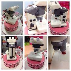 Bolo microscópio biomedicina