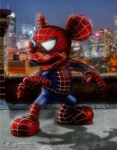 """Mickey Mouse"" meets ""Spider-Man"" (Mickey as Spider-Man)"