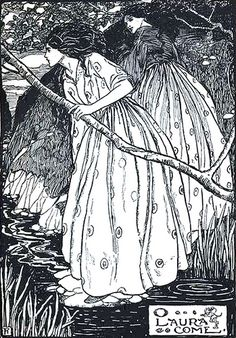 O Laura Come : Emma Florence Harrison illustration for poem by Christina Rossetti