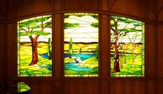 stained glass triptych window | This stained glass Triptych was designed for a renovated Chapel at ...