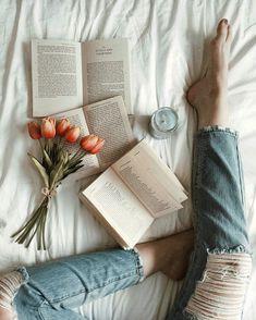 foldedcorners Book Flatlay, Reading Pictures, Spring Aesthetic, Flowers Instagram, Insta Photo Ideas, Tears Of Joy, Instagram Girls, Flower Photos, Aesthetic Pictures