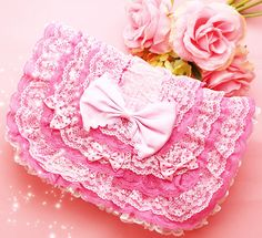 Pink lace bag, so girly
