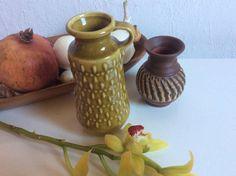 Satz von zwei kleinen Vintage deutsche Vasen von VasesfromMars