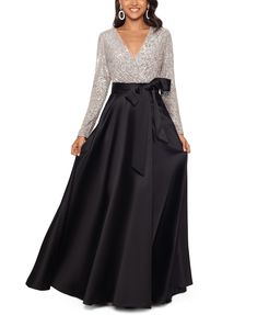 Shop a great selection of Xscape Long Sleeve Sequin Ballgown. Find new offer and Similar products for Xscape Long Sleeve Sequin Ballgown. Mob Dresses, Formal Dresses For Women, Event Dresses, Mother Of The Bride Dresses Long, Taffeta Skirt, Ball Skirt, Bride Gowns, Gowns Online, Review Dresses
