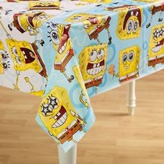 Spongebob Squarepants Table Cover by Amscan. $2.00. Children of all ages are sure to love a Spongebob Squarepants birthday party! With the Spongebob Squarepants Party Collections, kids can have the perfect Spongebob party with all of their favorite friends! Keep the table neat and looking great with this fun Spongebob Squarepants Table Cover!