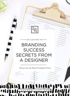 Branding Tips from a Brand Designer plus Ashlee Proffitt's own Brand Development Worksheets for free