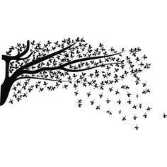 foto: Adesivo de Parede Árvore Gameleira X4 Adesivos Uma Cor (150x75cm)