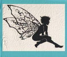 Fairy Silhouette by OnceISpoke on DeviantArt Fairy Silhouette, Silhouette Clip Art, Silhouette Images, Ballerina Silhouette, Fairy Lanterns, Kobold, Fairy Jars, Mason Jar Crafts, Stone Painting