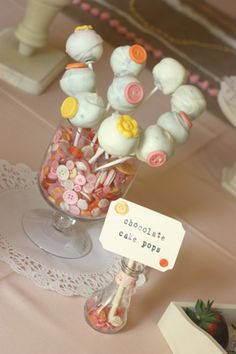 How Cute are those button in the Jar! Shabby Chic Vintage Inspired Cute as a Button Themed Baby Shower