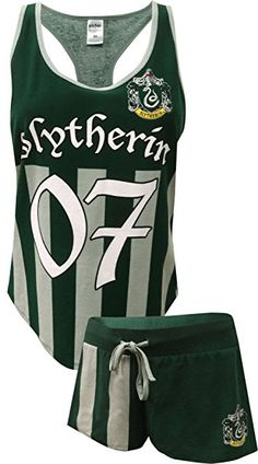 3020c510c3f1e2 Harry Potter Slytherin Quidditch Seeker Uniform Shortie PJ Set for women.