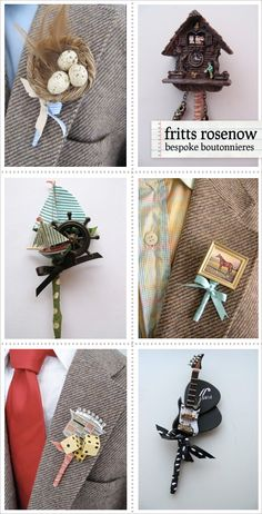 Boutonnieres for CoolGuys - Home - Creature Comforts - daily inspiration, style, diy projects + freebies