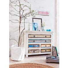 Kommode, Antik- Finish, Shabby Chic, Mangoholz Katalogbild