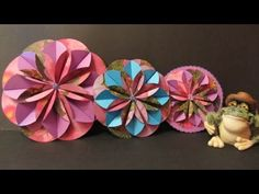 Tutorial. Flores de papel 3D. Flower 3D.