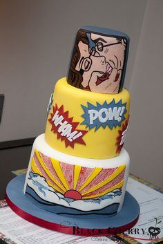 Roy Lichtenstein Comic Book Cake | Flickr - Photo Sharing!