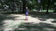 The very first picture of my headstand, taken by my super cool friend on the International Yoga Day - Margaret Island/Budapest 21.6.2015