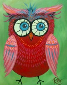 Funky Owl! - Paint Along NYC