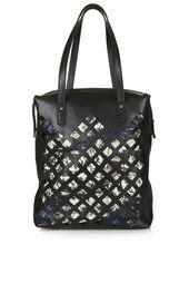 Premium Leather Diamond Cut Out Shopper Bag from Topshop R900,00