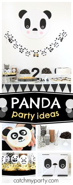 Check out this awesome panda themed birthday party! The panda cookies are so cool!! See more party ideas and share yours at CatchMYParty.com #panda #animal #girlbirthday