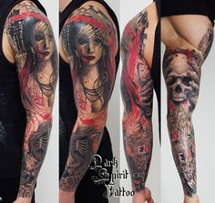 tatoueur-francais-perpignan-trash-polka-geisha-asia-women-crow-rose-skull-lettrage-lettering-réaliste-réalistic-e1459621930120.jpg (739×700)