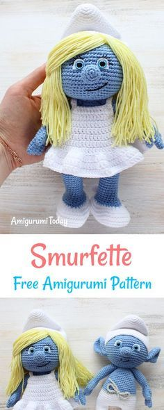 Let your mind wander into the fancy world of the Smurfs with this super soft crochet Smurfette! Use our amigurumi pattern to create the lovely toy for your little ones or older ones who are young at heart :)
