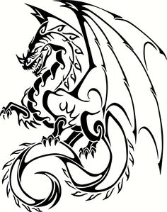 Dragon Vinyl Cut Out Decal, Sticker - Choose your Color and Size