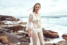 Beach Dreaming: Zoe Von Gerlach (Dress Alice McCall, Necklace Eightly and Swimwear Le Buns). Photographer Jeremy Choh. Stylist Danielle Soglimbene