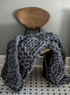 Gorgeous chunky knits and Arm Knitting by Flax & Twine - over on LoveKnitting