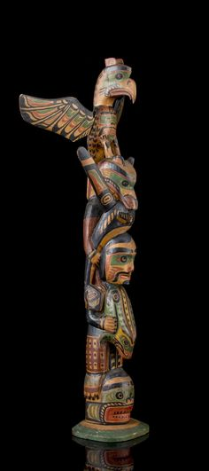 Native American Totem, Haida Art, Wood Carving Tools, Totem Poles, Native Art, Wood Sculpture, Fine Art, Wood Working, Antiques