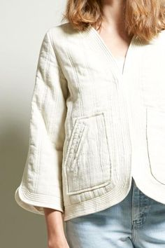 Polder Nieves Quilted Jacket in Off-White