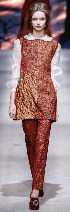 Alberta Ferretti adds cultural elements to her designs, as if layers of flavor to a culinary entree. Simply amazing!