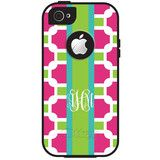 Monogram iPhone 5/5S/5C OtterBox Case - Preppy Geometric | Three Hip Chicks #monogram #otterbox #designyourown