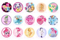Hey, I found this really awesome Etsy listing at https://www.etsy.com/listing/184795084/my-little-pony-30-circle-1-inch-instant