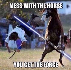 Yep if you mess with you do get the force