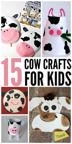 Are you looking for some fun cow crafts to go along with a lesson plan? Here are 15 cow crafts for kids!