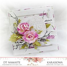 Handmade by Karasiowa: Wielkanocnie z różami - DT Namaste Easter Greeting Cards, Greeting Cards Handmade, Easter Card, Egg Card, Shabby Chic Cards, Easter Projects, Vintage Tags, Flower Cards, Scrapbooking
