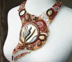 Bedrock  beaded collar by PaintedWithBeads on Etsy, $450.00