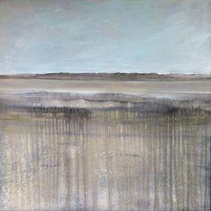 Listening to the stillness  #horizon series #mixedmedia #canvas 90x90 #landscape #swissartist #atelier_katja_kündig #abstractart #studiolife #innerpeace