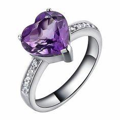 Heart Amithyst ring