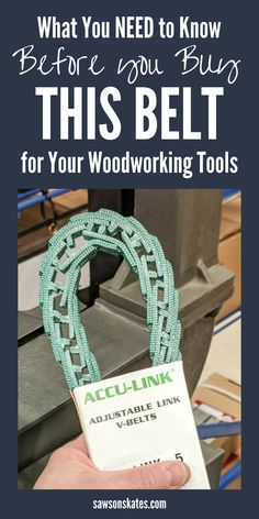 Have you considered replacing your drill press, table saw, sander, bandsaw or other woodworking tool v-belt with an adjustable link belt? An adjustable link belt makes lots of claims like it can be used on just about any woodworking tool, that it's easy to install and will help to reduce vibration in your woodworking tools. Let's find out and put this belt to the test for our DIY projects! #woodworkingtips #tablesaw #drillpress #bandsaw #diy #woodworking